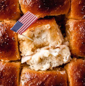 cheesy Turkey sliders recipe