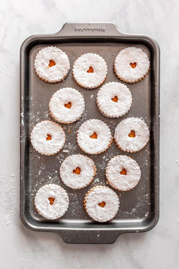 Nut Free Linzer Cookies | damnspicy.com #cookies #linzercookies #nutfreelinzer #easycookierecipes #russiandesserts #russianrecipes