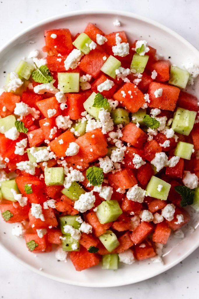 Watermelon Salad With Mint