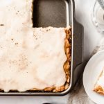 Best Apple Slab Pie With Icing | This Easy Apple Slab Pie is sweet, gooey and oh so cozy! | damnspicy.com