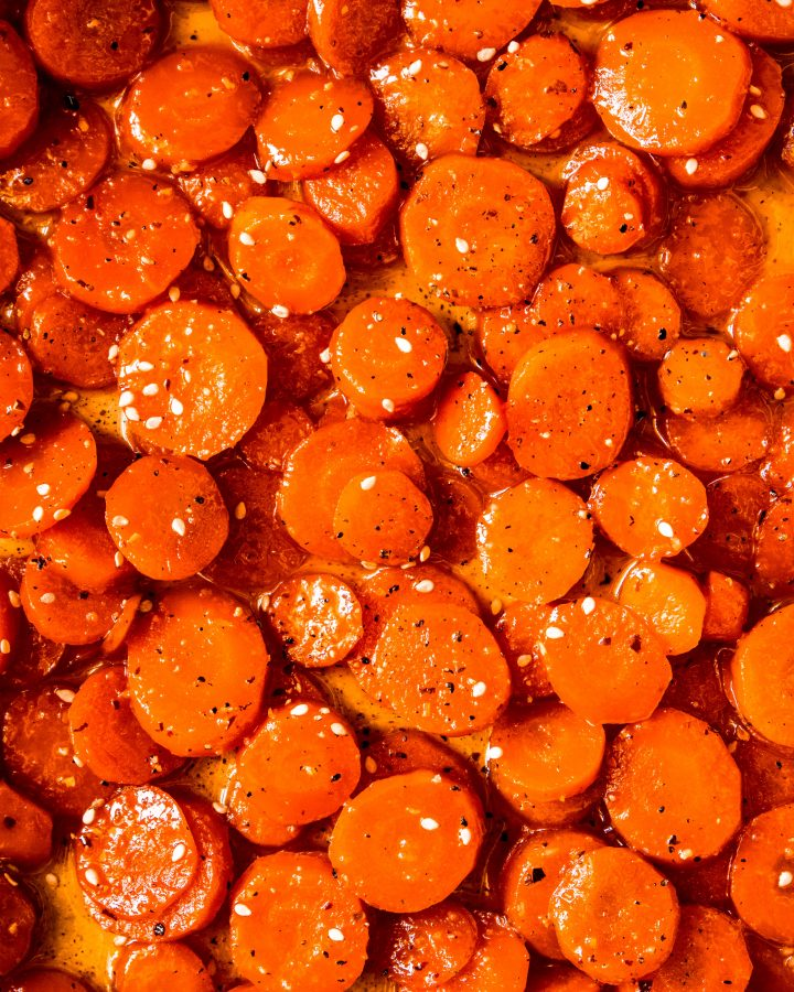 Spicy Honey Garlic Glazed Carrots Recipe