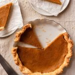 Homemade Pumpkin Pie For Two Recipe made from scratch from real pumpkin | damnspicy.com #thanksgiving #pumpkinpie #easyrecipes #dessertrecipes #pierecipes