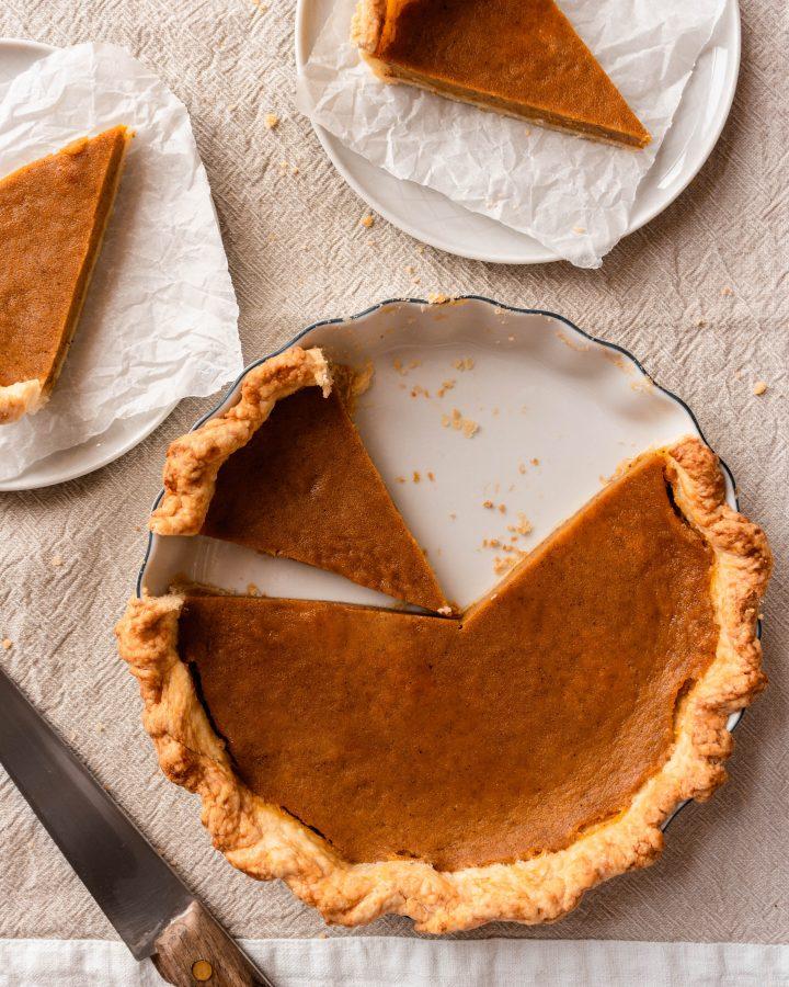 Homemade Pumpkin Pie For Two Recipe made from scratch from real pumpkin | damnspicy.com #thanksgiving #pumpkinpie #easyrecipes #dessertrecipes #pierecipes
