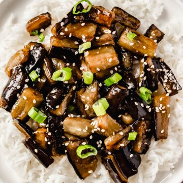 Easy Chinese Eggplants With Spicy Garlic Sauce Recipe