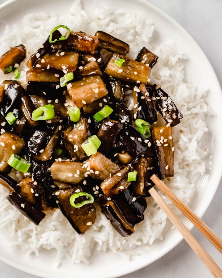 Chinese Eggplants With Spicy Garlic Sauce Vegan Recipe