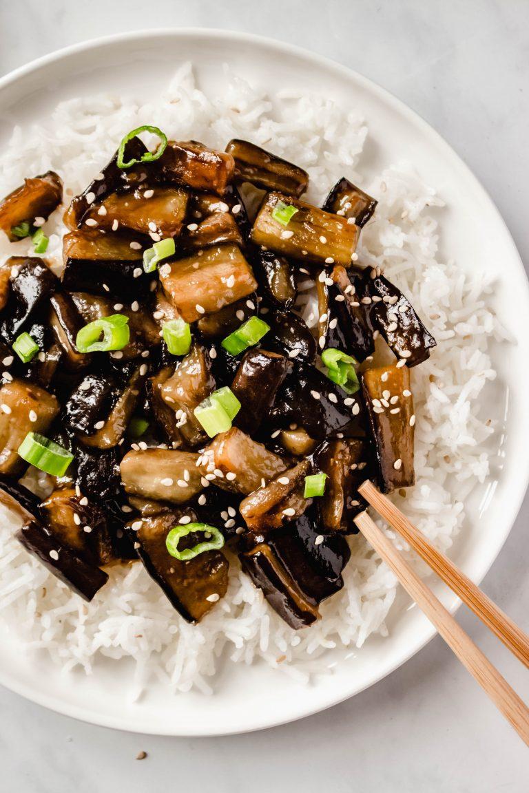 Chinese Eggplants With Spicy Garlic Sauce Vegan Recipe
