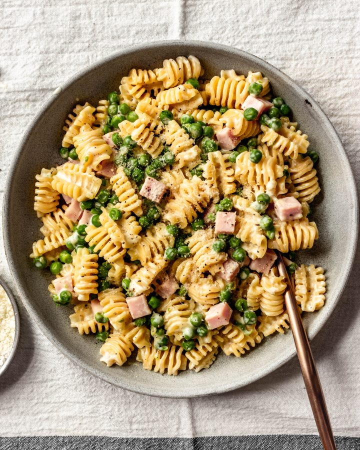 Creamy Ham and Peas Pasta Recipe