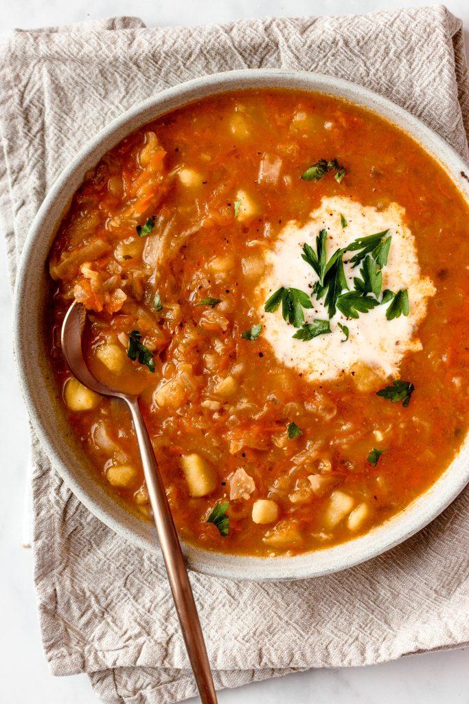 Shchi Russian Cabbage Soup Recipe