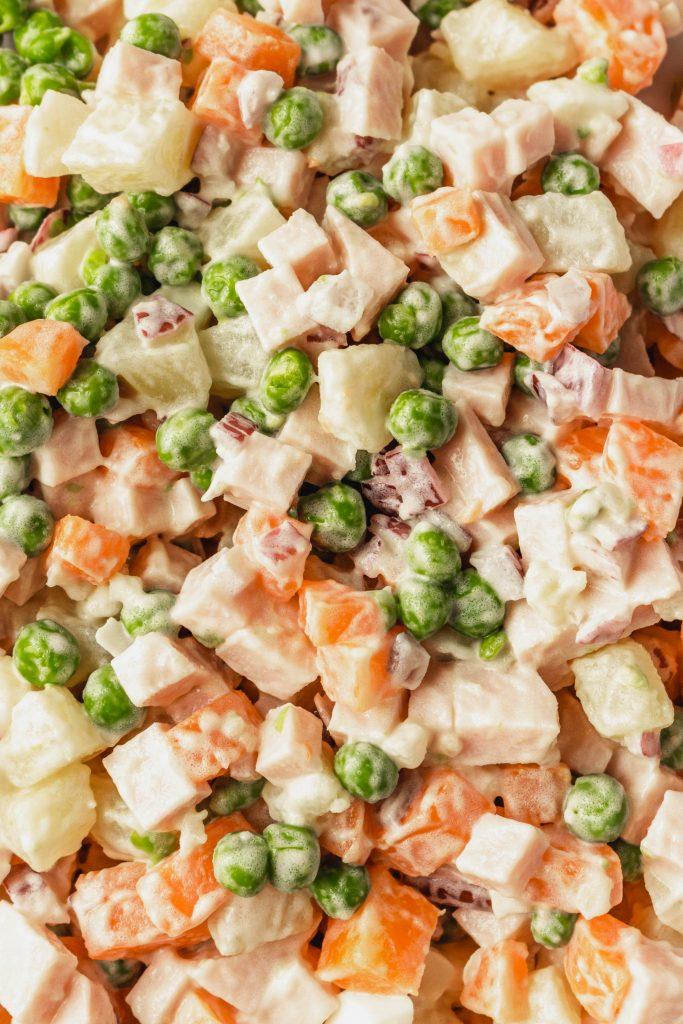 Russian Salad Ingredients
