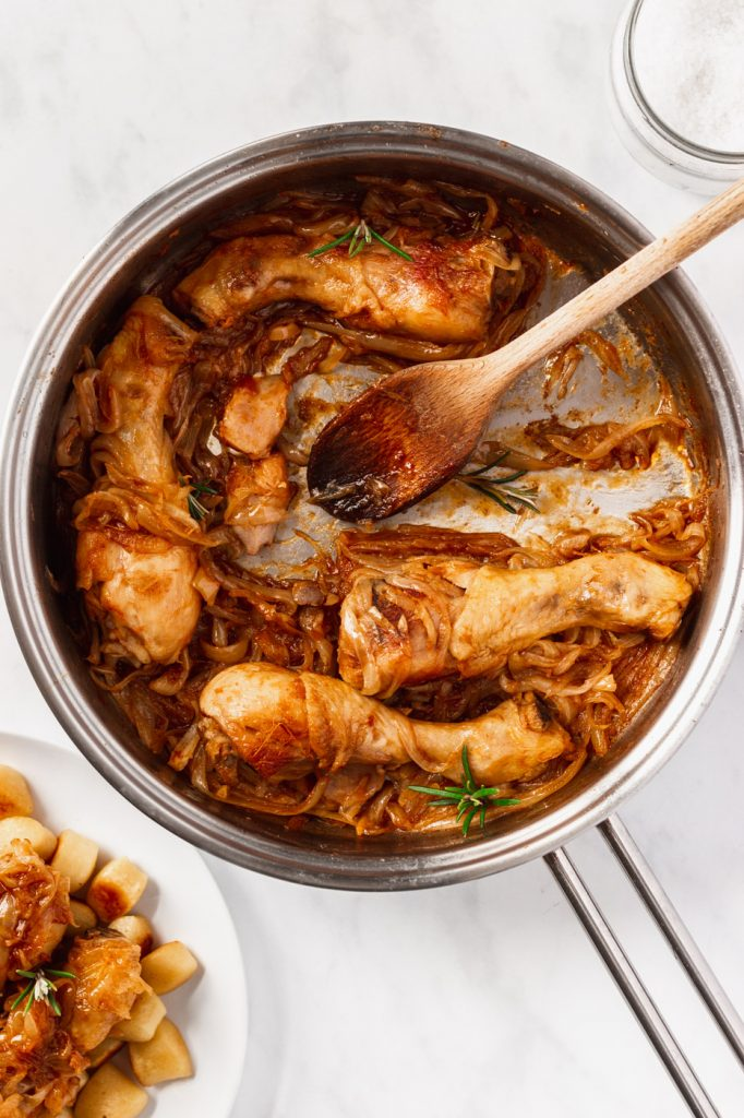 chicken with onions recipe