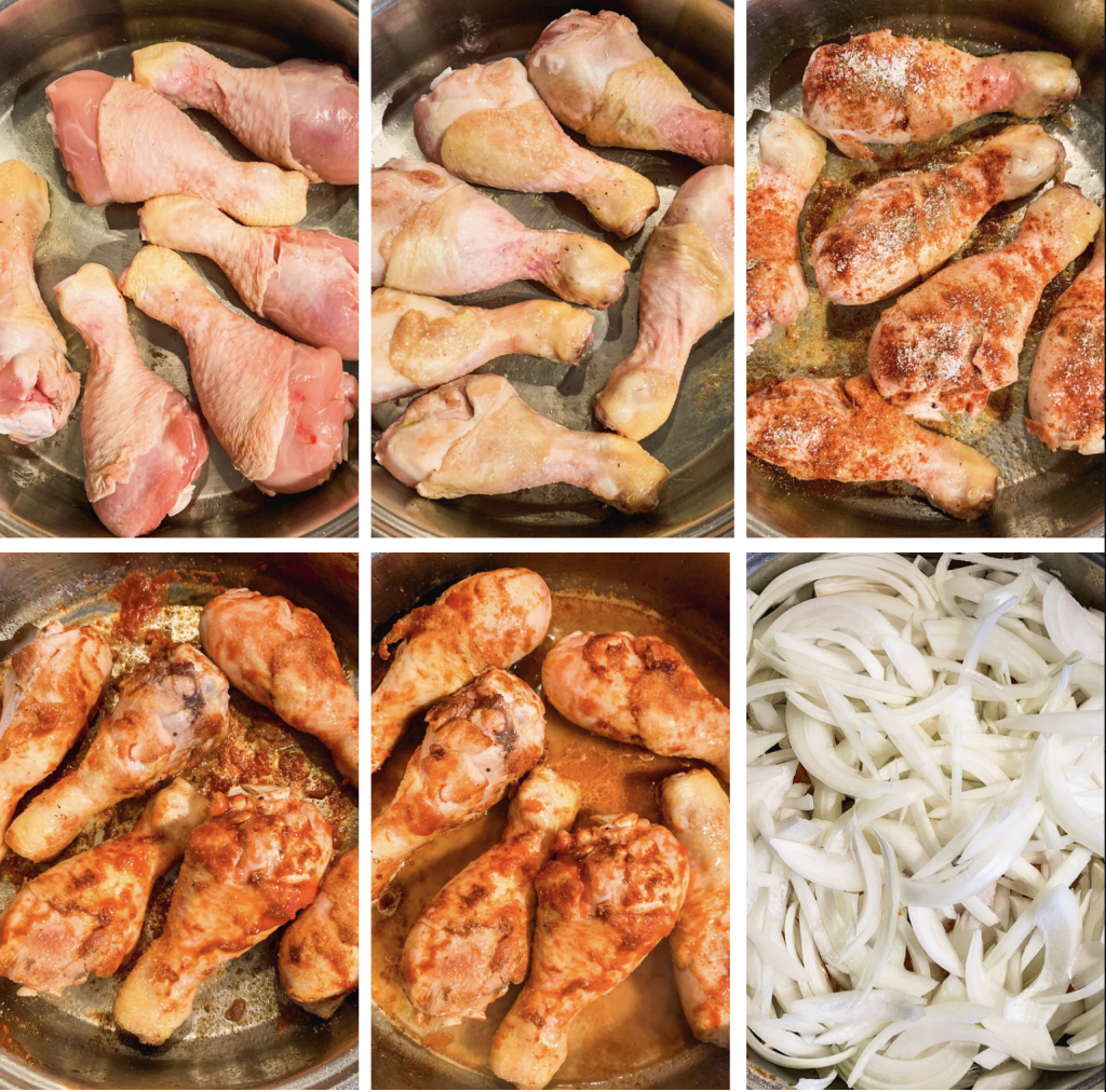 how to make chicken with onions