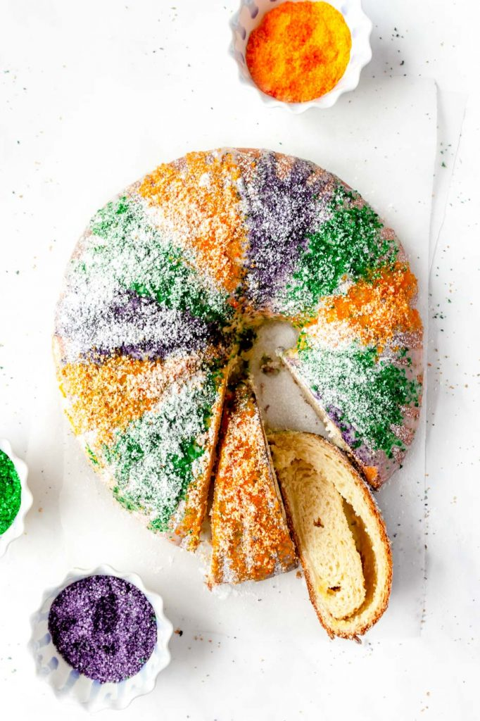 Easy King Cake with Cream Cheese Filling