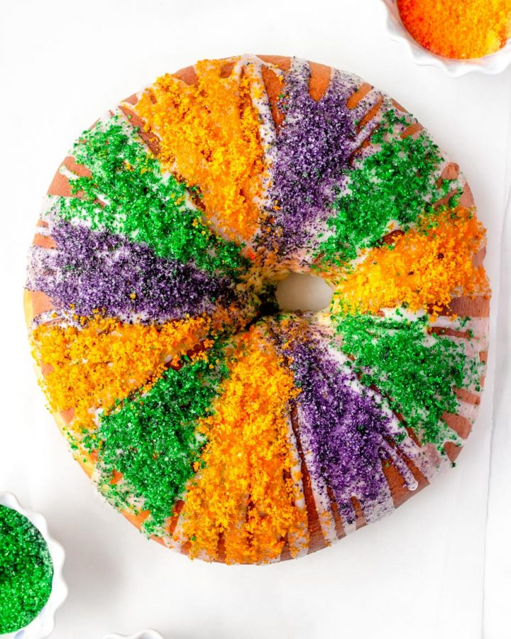 Easy King Cake with Cream Cheese Filling Recipe