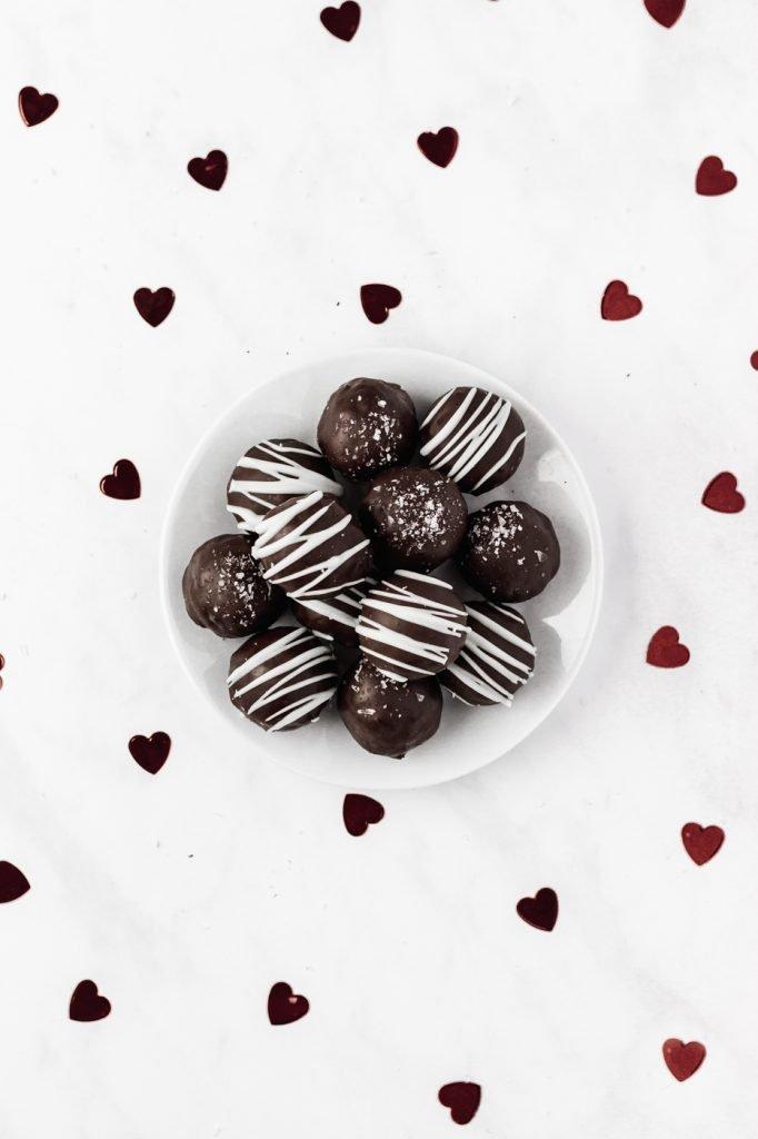 no bake chocolate cake truffles