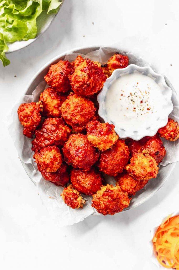 crispy buffalo cauliflower wings recipe