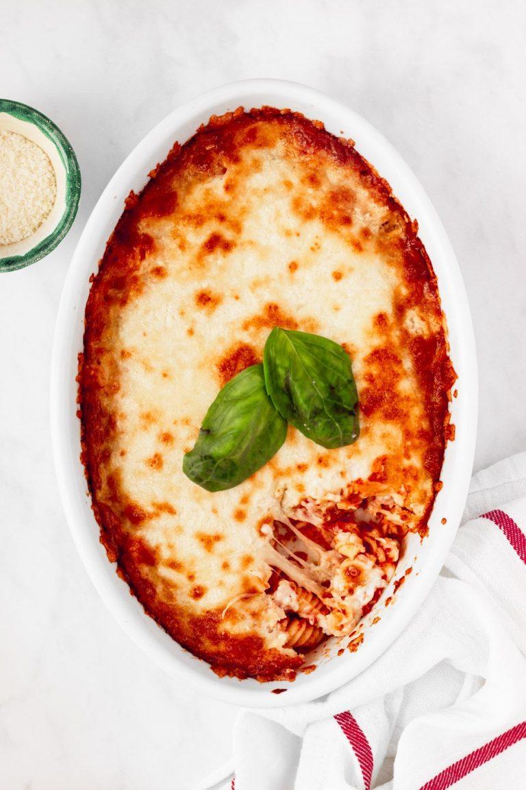 Italian Baked Pasta With White Sauce