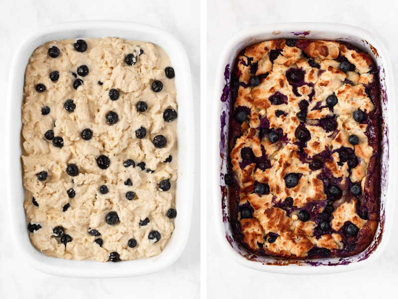 how to make blueberry bread pudding recipe