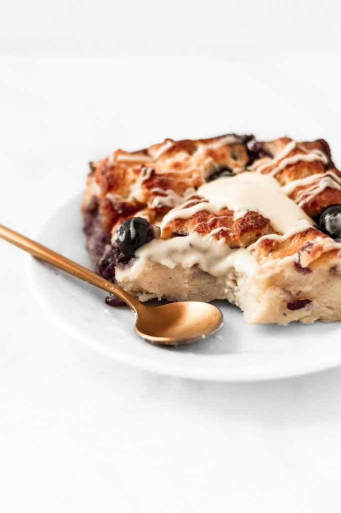 old fashioned bread pudding recipe with blueberries and white chocolate