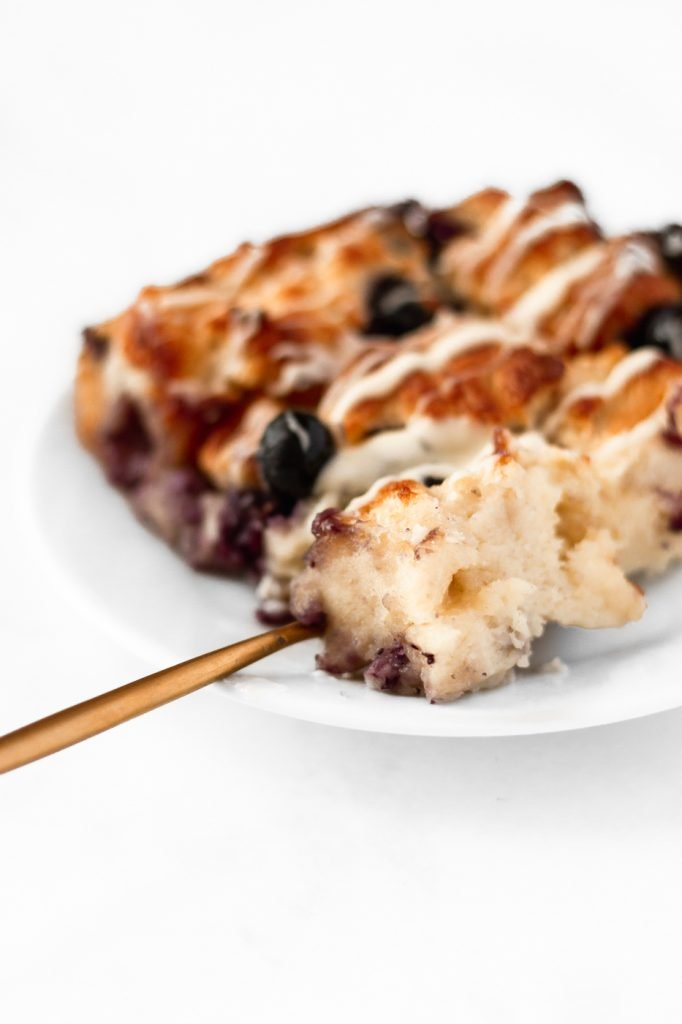 over the top blueberry bread pudding
