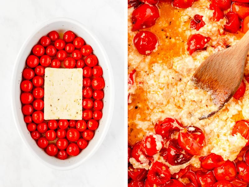 how to make baked feta pasta