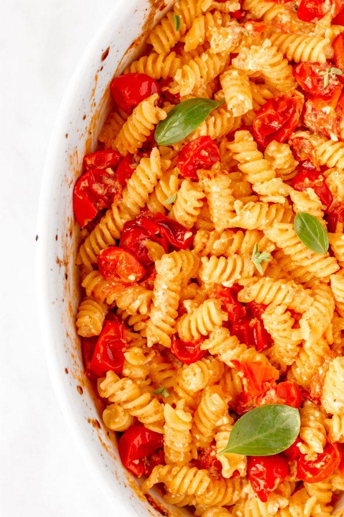 easy baked feta pasta recipe tiktok